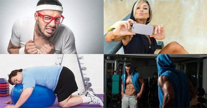 lazy gym selfie